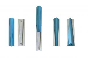 Modern large mezuzah case, anodized aluminum Judaica made in Israel by Nadav Art