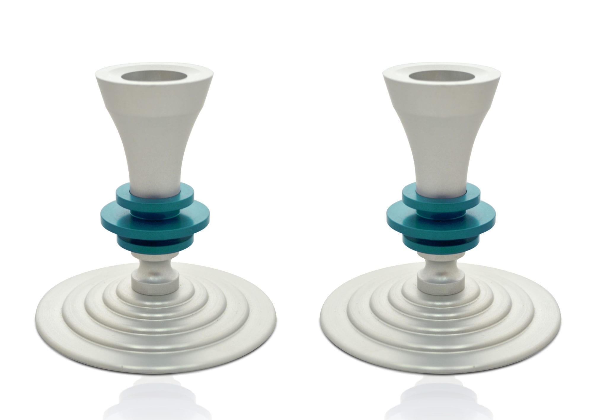 Mini elegant candlesticks, anodized aluminum Judaica & home decor made in Israel by Nadav Art