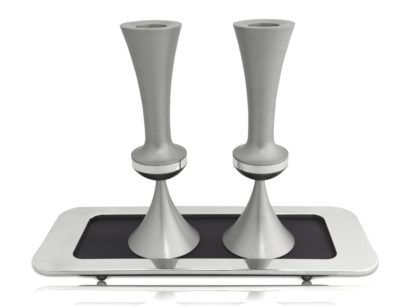 Matte Finishing Candlesticks with Tray