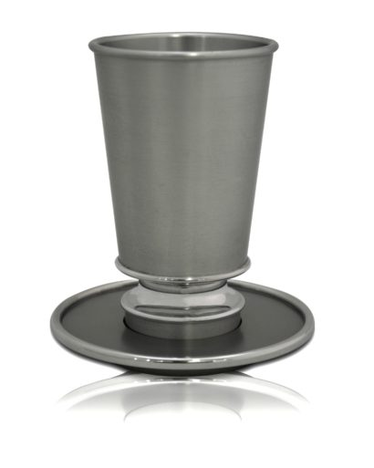 modern kiddush cup set, shabbat judaica made in israel, anodized aluminum