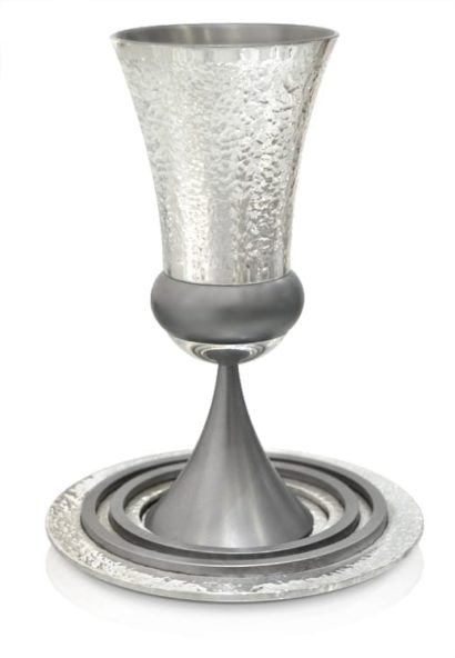 Hammered Kiddush cup and Havdalah Set