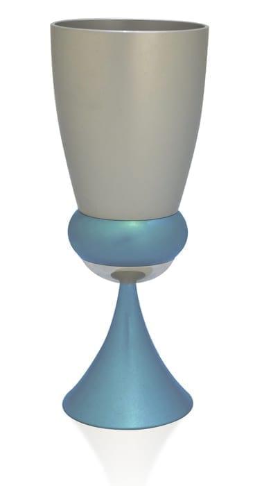 egg-shaped goblet havdalah set, kiddush cup, judaica made in israel