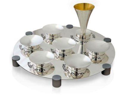 Silver seder plate