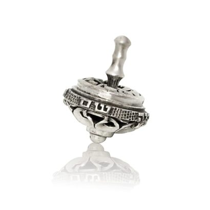 Petite sterling silver dreidel. Hannukah Judaica gifts made in Israel