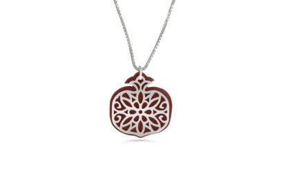 Small pomegranate pendant silver & aluminum  - NADAV ART