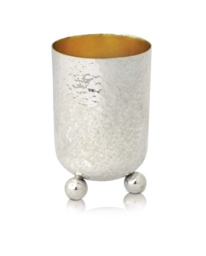 Sterling Silver Kiddush cup in a modern design