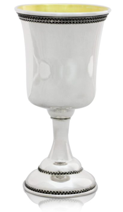 Sterling silver Kiddush cup wine goblet silver Judaica traditional filigree