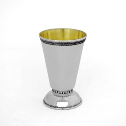 filigree small cup, sterling silver kiddush cup, shabbat judaica, made in israel