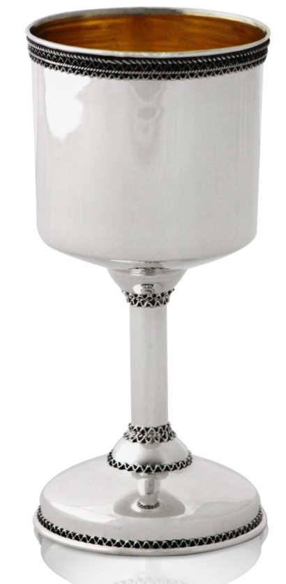 Noar Standard Kiddush Cup grand wine goblet - NADAV ART