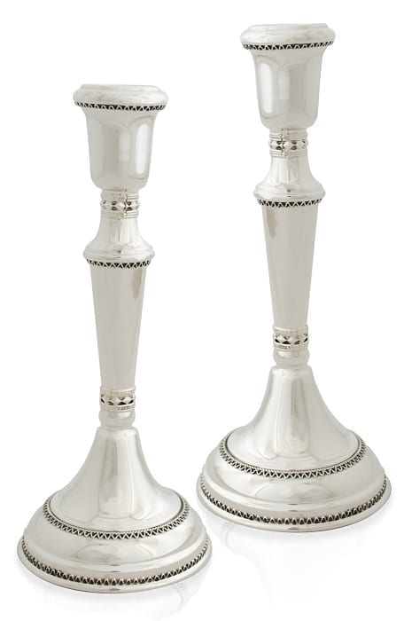 Modern & antique sterling silver candlesticks. Shabbat Judaica made in Israel