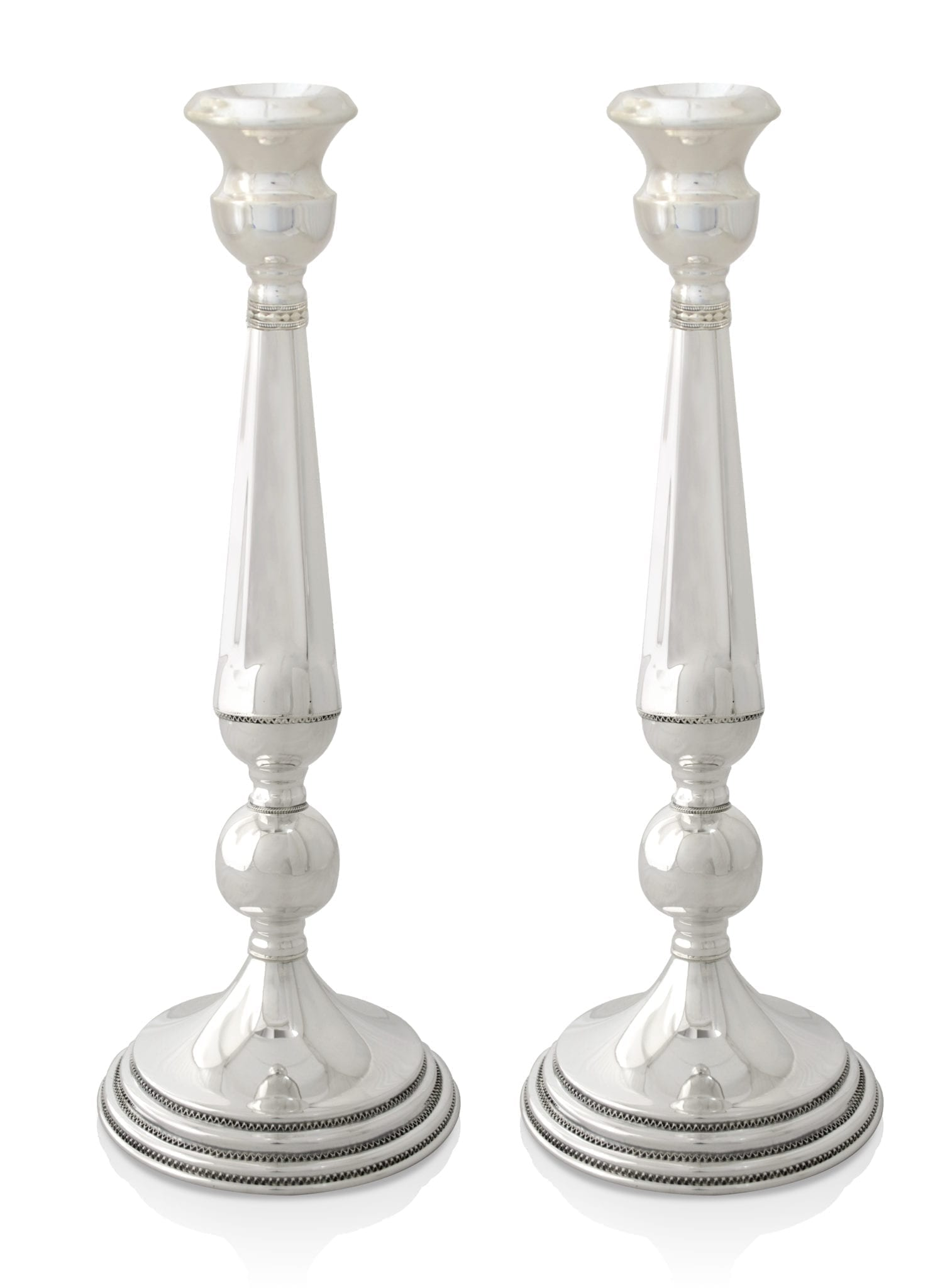 Fresh sterling silver candlesticks. Shabbat Judaica made in Israel