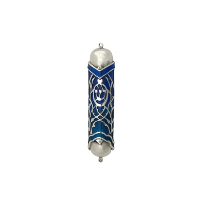 Blue and Turquoise Mezuzah Case