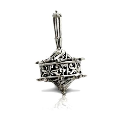 exquisite Hanukkah Silver Dreidel nurya silver dreidel - NADAV ART