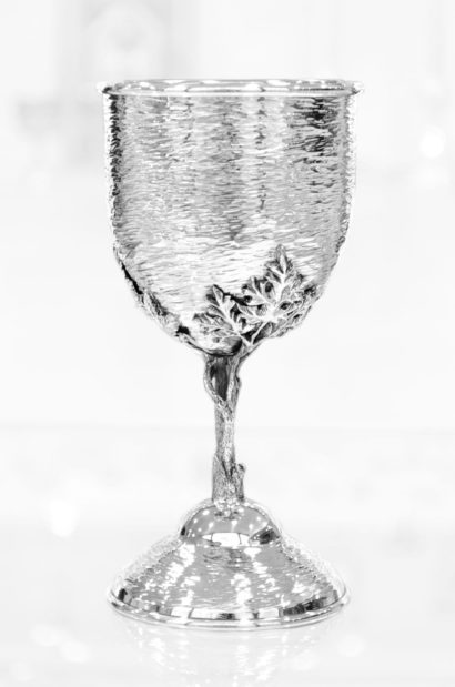 Special Hammered Kiddush Cup