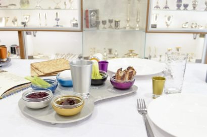 Colorful Seder Plate with Plate