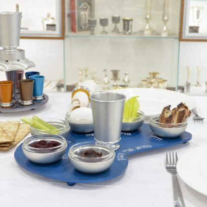 Aluminum Seder Plate With Cup