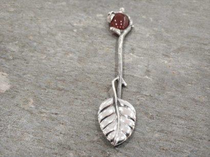 Personalized Sterling Silver Leaf design
