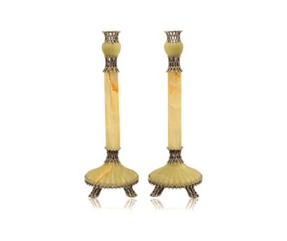 Onyx Stone Candlesticks