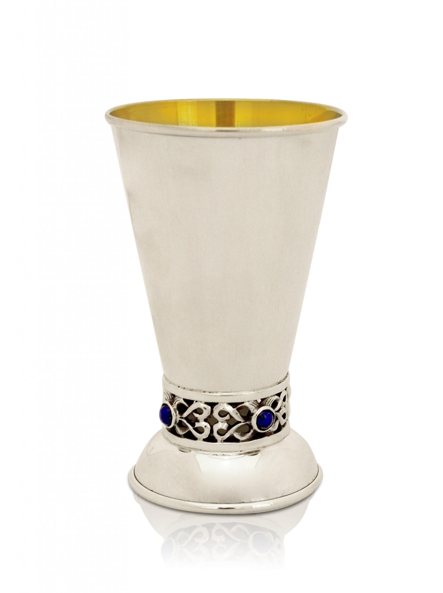 Sterling silver Lapis Kiddush cup