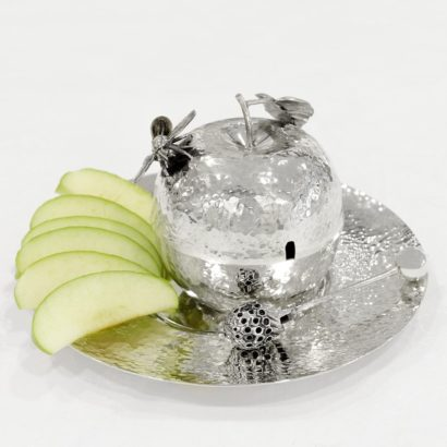 Sterling silver hammered honey dish
