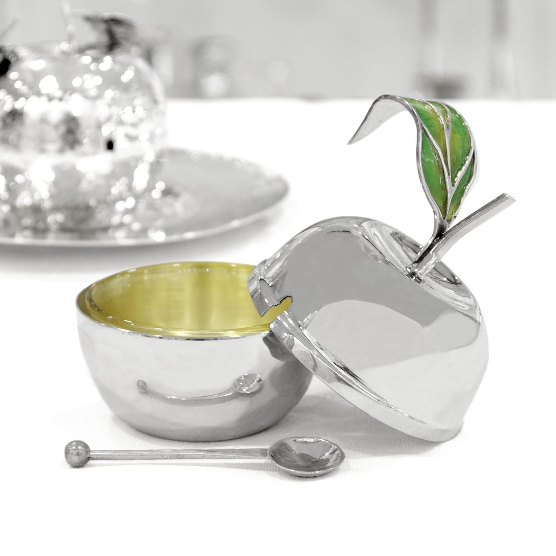 Sterling silver honey dish