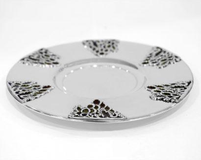 sterling silver enameled plate
