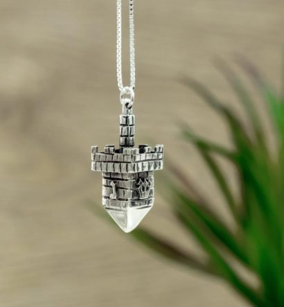 Sterling Silver Dreidel Necklace