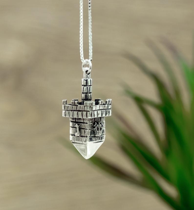 Sterling Silver Dreidel Necklace