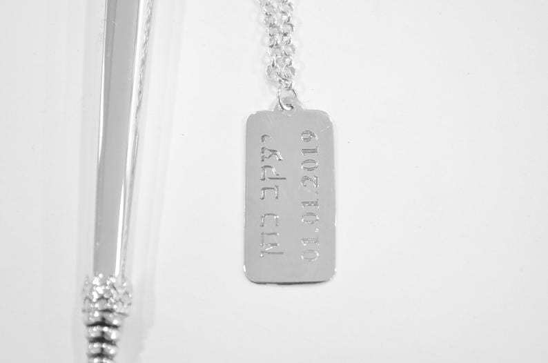 Silver Personalized tag for Torah pointer