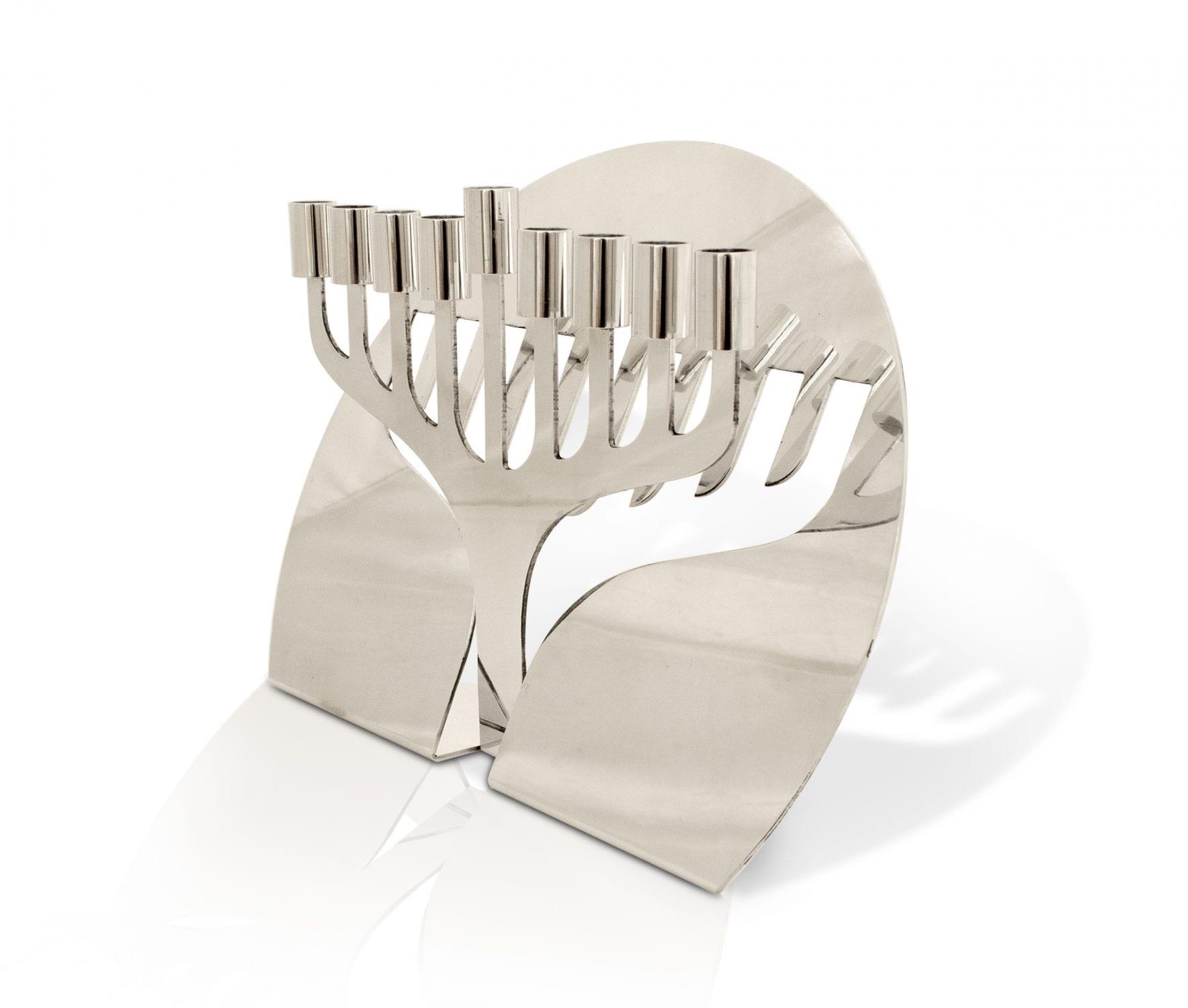 Unique Aluminum Hanukkah Menorah