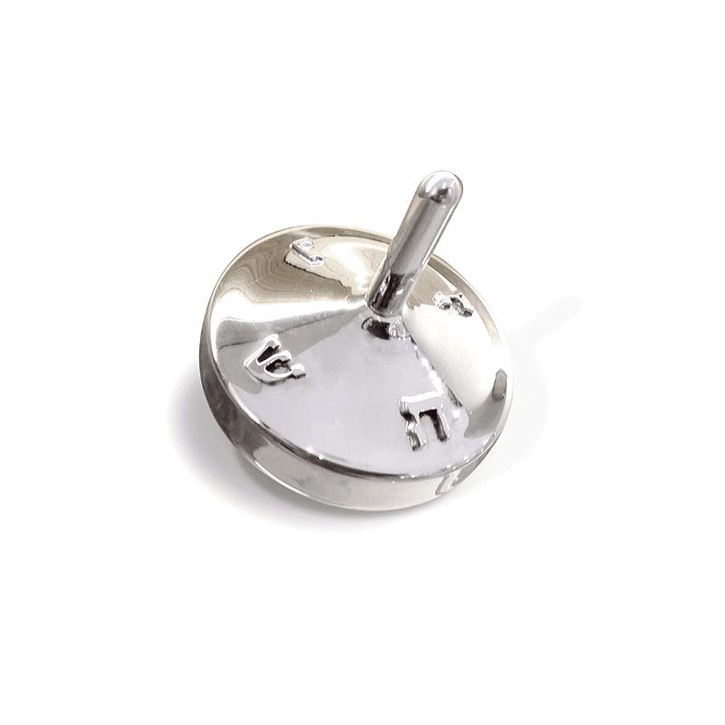 Modern Sterling Silver Hanukkah Dreidel