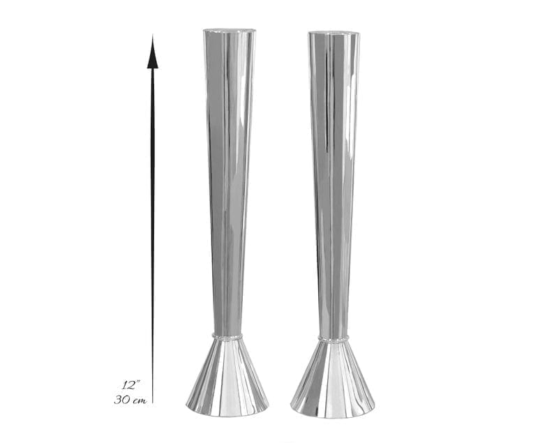 12 inches Sterling silver Modern Candlesticks