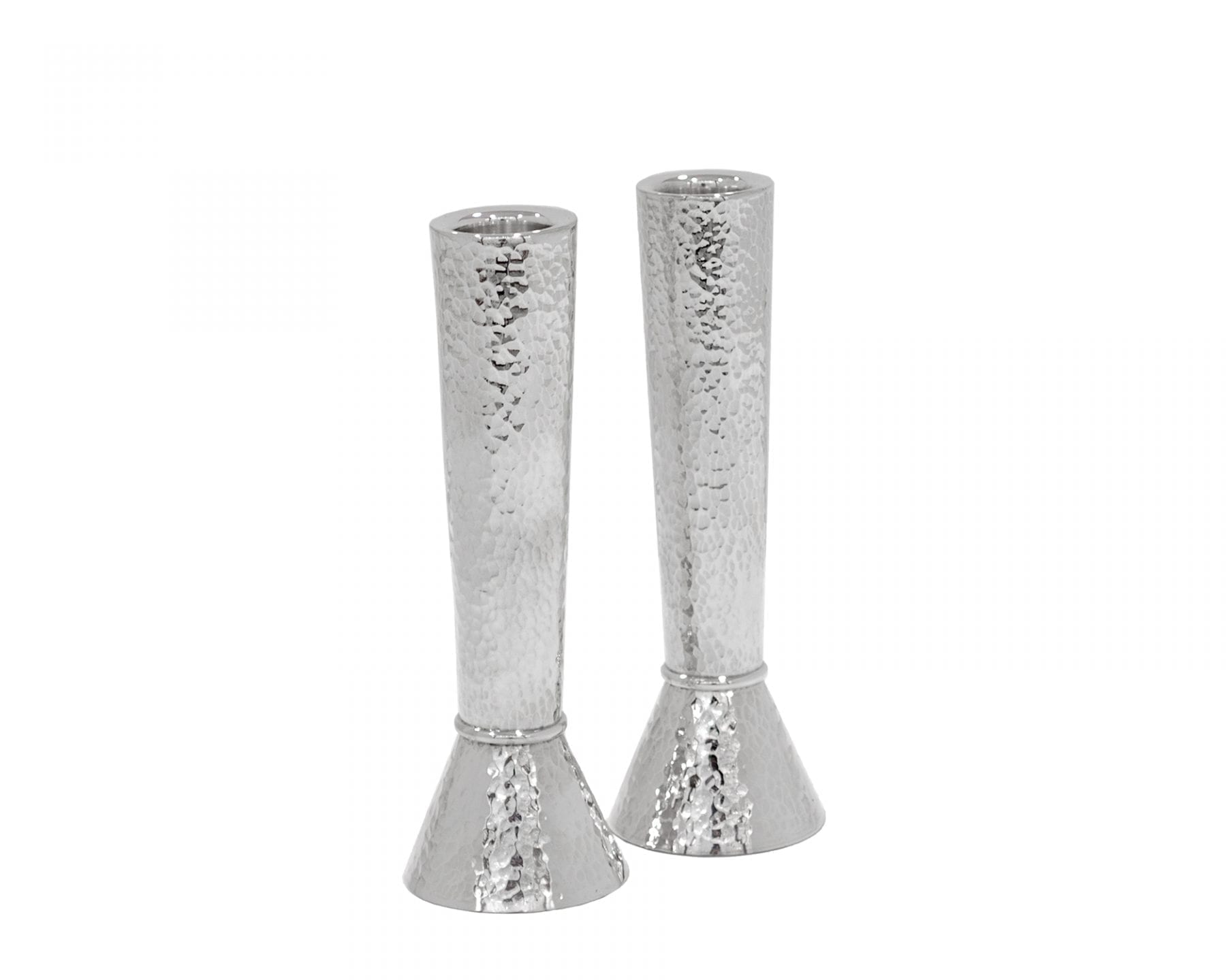 Medium 925 Sterling silver Hammered Candlesticks
