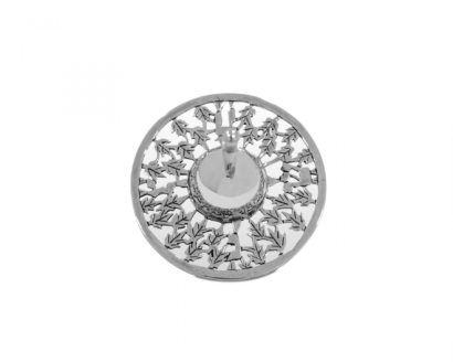 Modern Large Sterling silver dreidel