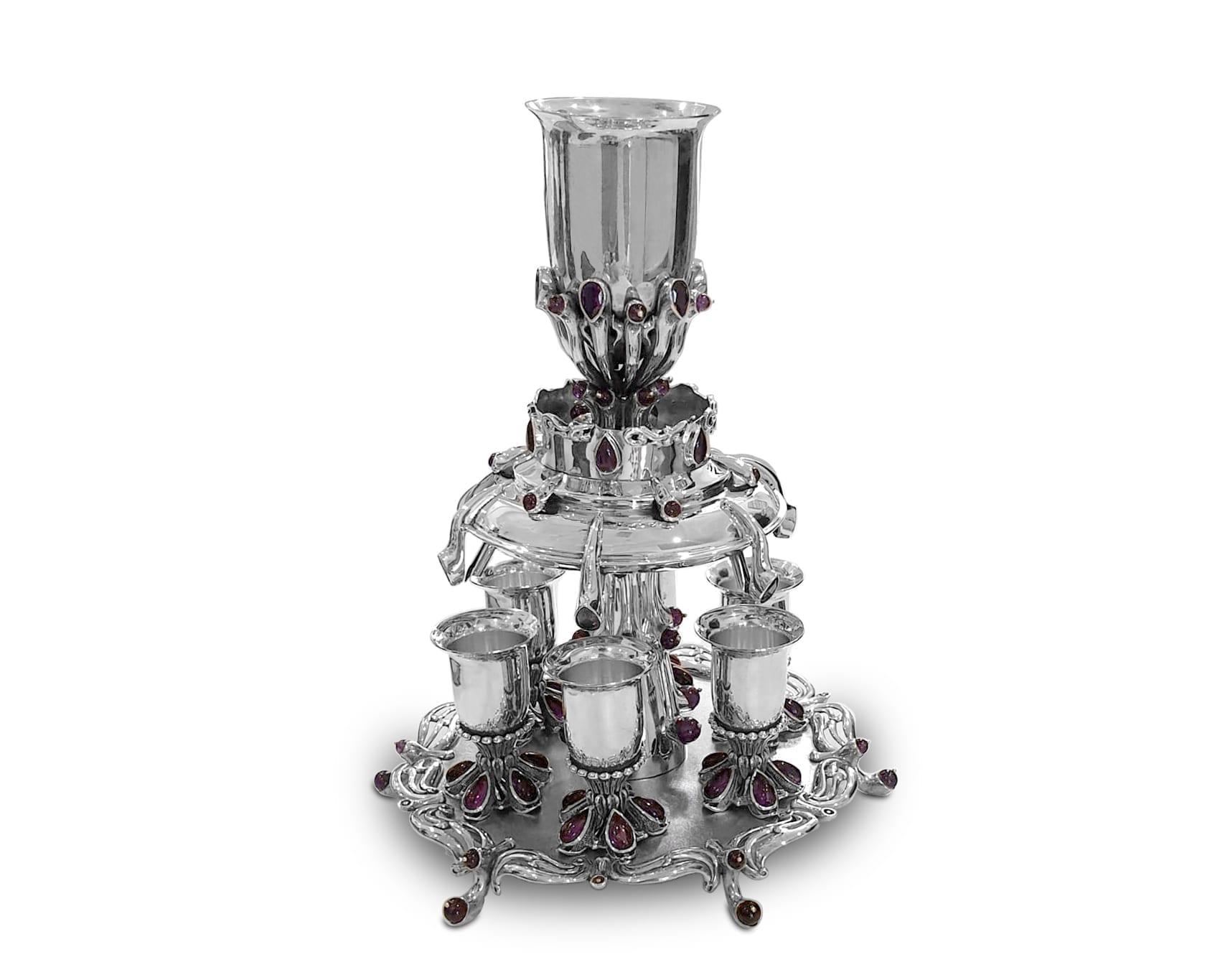 Semi-precious amethyst stones Wine Fountain