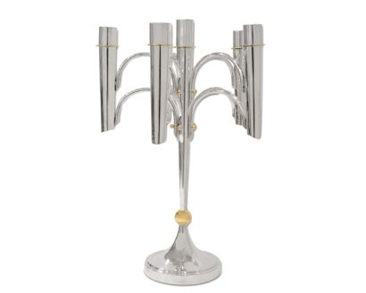 Silver & Brass Modern Candelabra