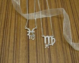 Sterling silver zodiac necklace