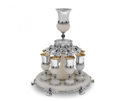 One-of-a-kind Sterling Silver Wine Fountain