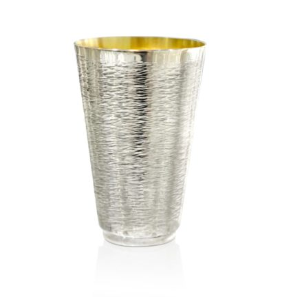 NEW Sterling Silver Wave Hammered Kiddush Cup