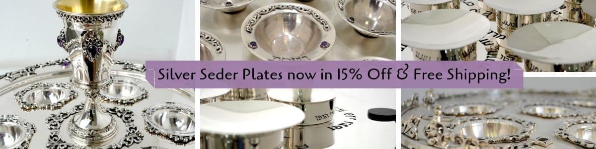 Sterling silver Seder Plates SALE