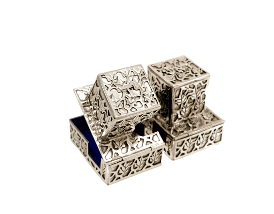 Sterling Silver Tefillin Boxes
