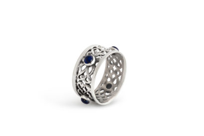Blue Lapis Stones Napkin Ring Blue Lapis Stones Napkin Ring - NADAV ART