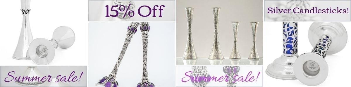 silver candlesticks sale