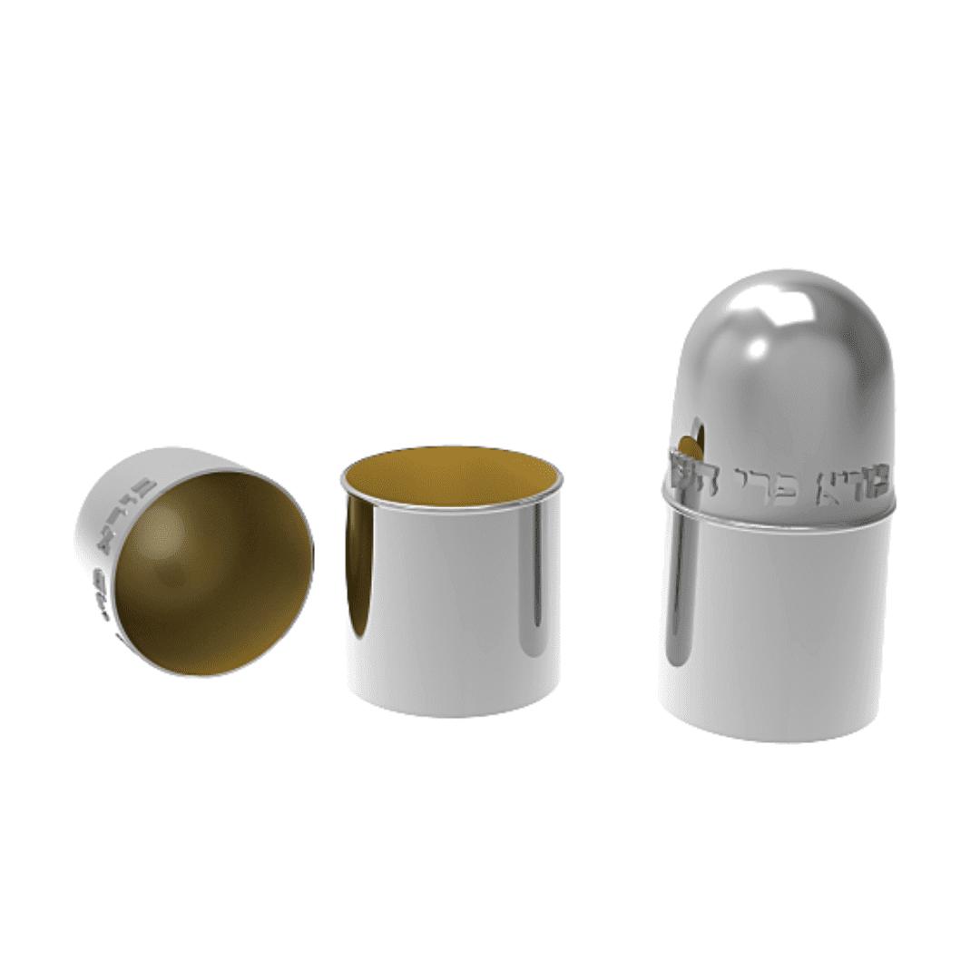 Modern Sterling Silver Etrog Case