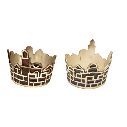 Jerusalem Napkin Ring set