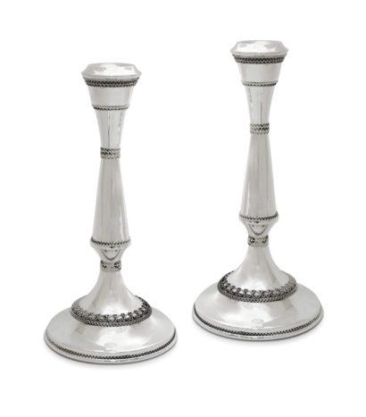Large Sterling Silver Filigree Candlesticks