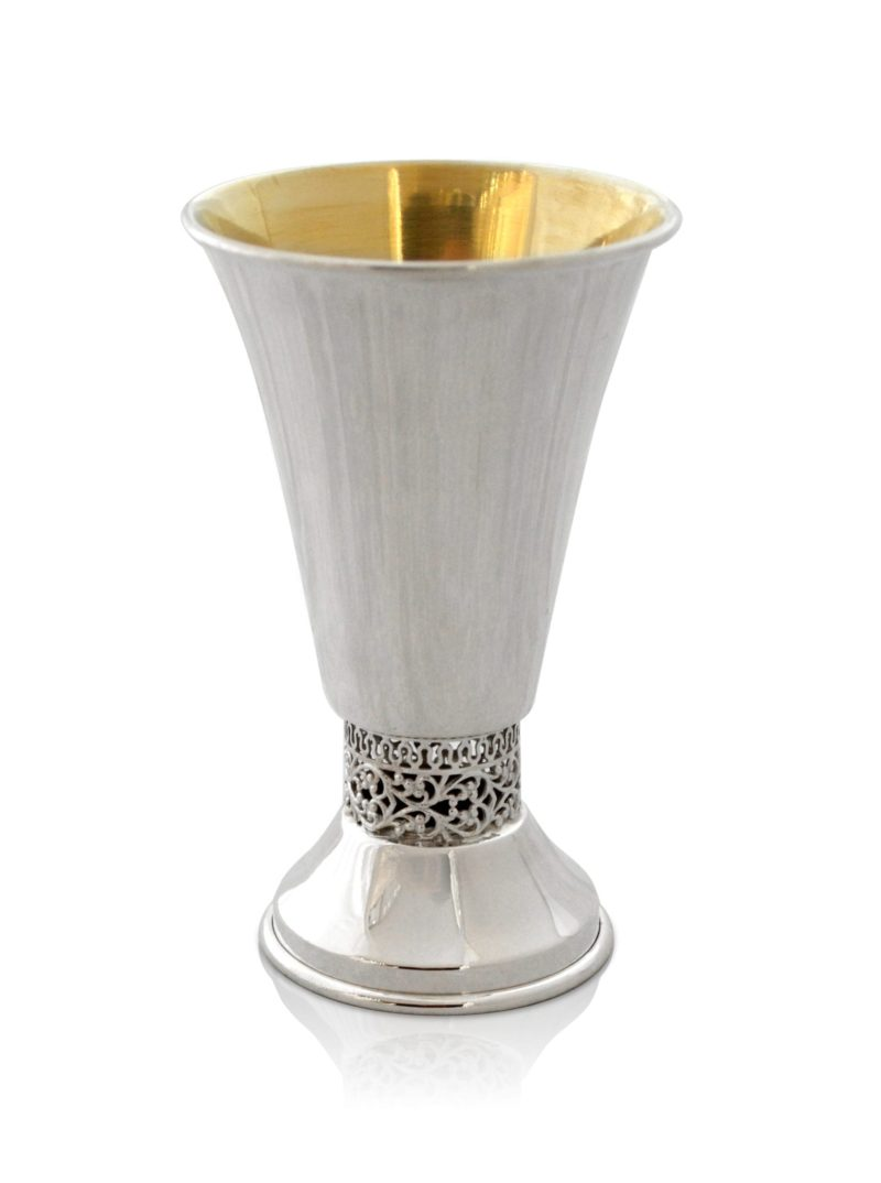 Sterling Silver Filigree Kiddush Cup