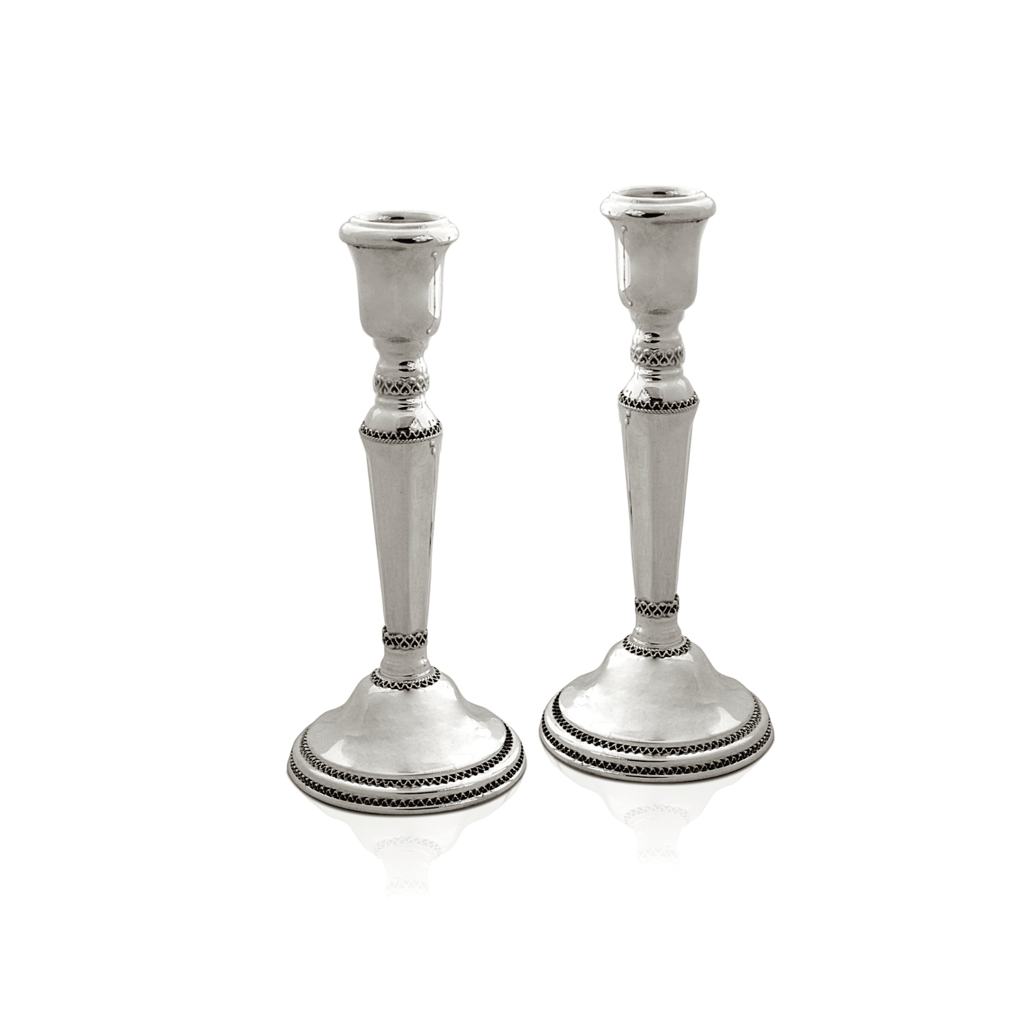 Large Filigree Shabbat Candlesticks