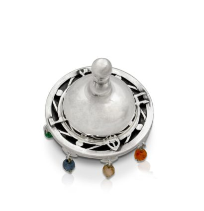 Multicolored Silver Spinning Top