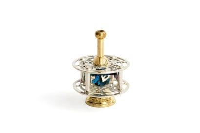 Silver Hanukkah Dreidel with stand